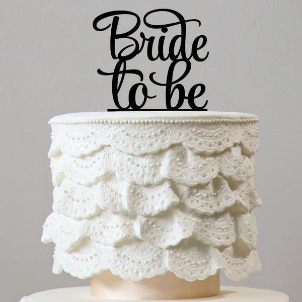 Elegant Bride to be Cake Topper for Wedding Bridal Shower Party Decoration