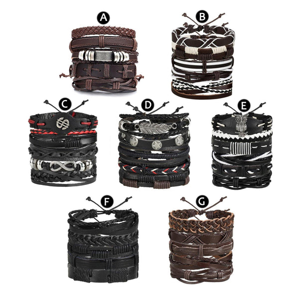 Leather Bracelets  Rocker, Biker, Street Style, Punk Outfit Additions & Accessories Charmerry a26