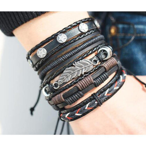 Leather Bracelets  Rocker, Biker, Street Style, Punk Outfit Additions & Accessories CHARMERRY