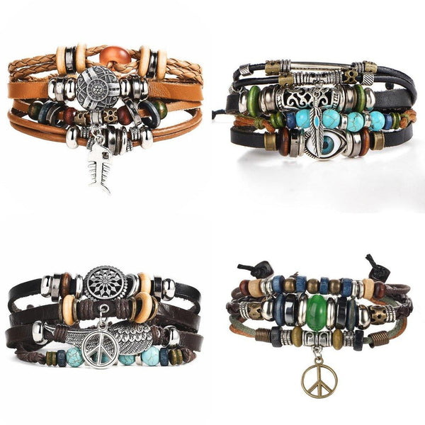 Leather Bracelets  Street Style Biker Southwest Rock`n Roll Outfit Additions & Accessories Charmerry a25