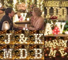 Load image into Gallery viewer, Letter Lights  LED Wedding Decor, Propose & Valentine's Day Ideas (Alphabet A to Z, Name, Words) Charmerry a1
