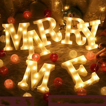 Load image into Gallery viewer, Letter Lights  LED Wedding Decor, Propose & Valentine's Day Ideas (Alphabet A to Z, Name, Words) Charmerry a5