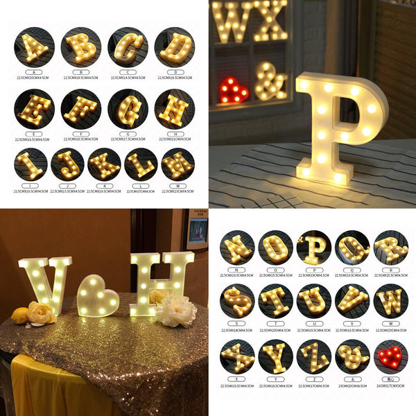 Letter Lights  LED Wedding Decor, Propose & Valentine's Day Ideas (Alphabet A to Z, Name, Words) Charmerry a4