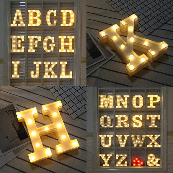 Letter Lights  LED Wedding Decor, Propose & Valentine's Day Ideas (Alphabet A to Z, Name, Words) Charmerry a3