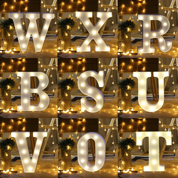 Letter Lights  LED Wedding Decor, Propose & Valentine's Day Ideas (Alphabet A to Z, Name, Words) Charmerry a2