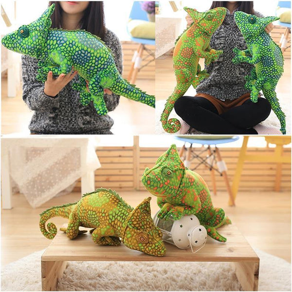 Lizard Chameleon Toys  Novelty Stuffed Animal Gifts, Unique Surprise Plush Toys Charmerry a02