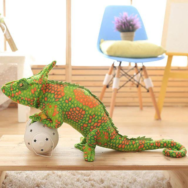 Lizard Chameleon Toys  Novelty Stuffed Animal Gifts, Unique Surprise Plush Toys Charmerry a08