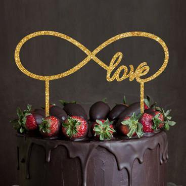 Love Cake Topper for Romantic Wedding, Anniversary, Engagement &Bridal Shower Party