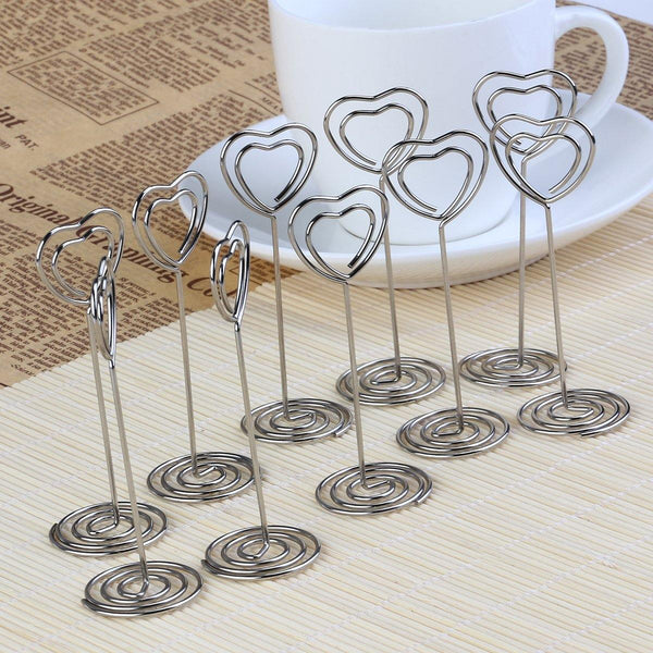 Love Heart Card Holders (10pcs) [Wedding Table Number Clips /Place Card Holders]