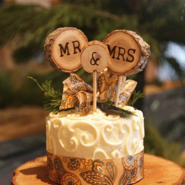 Mr & Mrs Cake Topper Decoration for Wedding Mariage Engagement Party