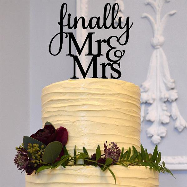 Mr Mrs Wedding Cake Topper (Rustic Country Vintage Chic Classy) Charmerry