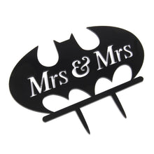Load image into Gallery viewer, Bat Mrs & Mrs Wedding Cake Topper (Homosexual Love /Same-Sex Marriage) - CHARMERRY