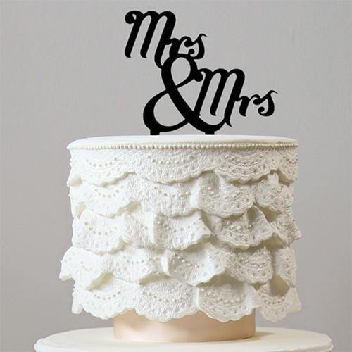 Mrs & Mrs Cake Topper (Homosexual Wedding /Same-Sex Marriage) - CHARMERRY