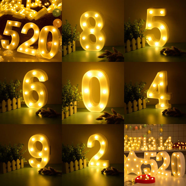 Number Lights  LED Wedding Decor, Propose & Valentine's Day Ideas (1 to 9) Charmerry a01