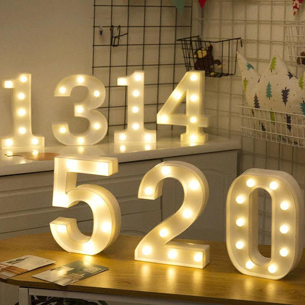 Number Lights  LED Wedding Decor, Propose & Valentine's Day Ideas (1 to 9) Charmerry a02
