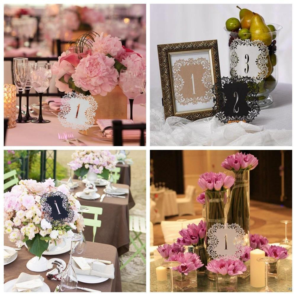 Table Numbers For Wedding Party Decorations [Romantic