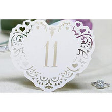 Load image into Gallery viewer, Table Numbers for Wedding [Rustic Vintage Baroque Theme] (11 to 20 Table Cards) 10pcs/set [Ivory] - CHARMERRY