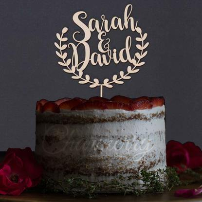 Personalised Customized Name Wedding Cake Toppers  Rustic Country Vintage Weddings Charmerry