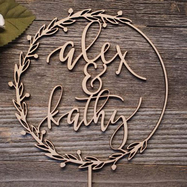 Personalised Customized Wedding Cake Topper Decorations (Custom Name) Charmerry a03