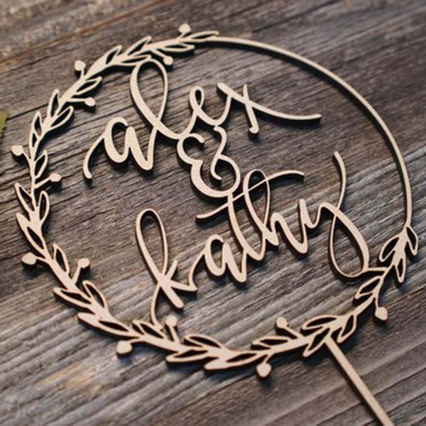 Personalised Customized Wedding Cake Topper Decorations (Custom Name) Charmerry a02