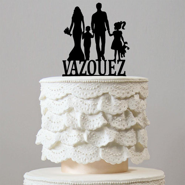 Personalised Wedding Cake Topper (Family Children Kids Son Daughter Boy Girl) Customized Keepsake Gifts