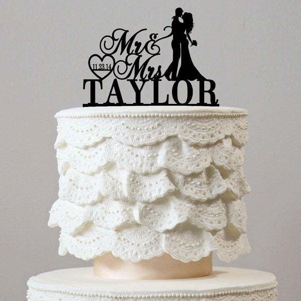 Personalised Wedding Cake Toppers (Custom Name & Date) Customized Keepsake Gifts