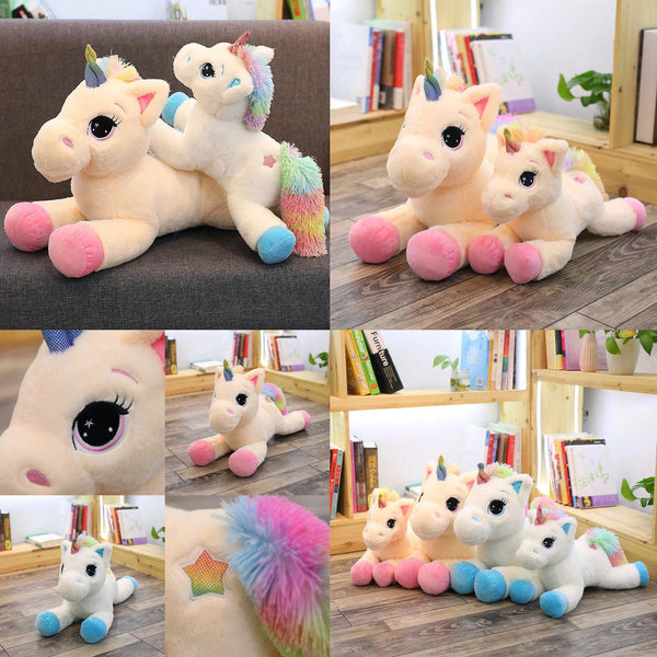 Plush Unicorn Stuffed Toy | Stuffed Animals, Plush Toys, Soft Toy Gifts (Pink / Blue) Charmerry a0