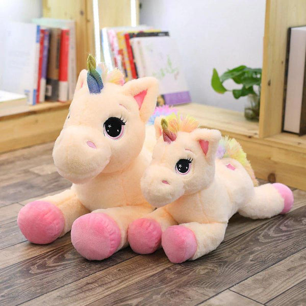 Plush Unicorn Stuffed Toy | Stuffed Animals, Plush Toys, Soft Toy Gifts (Pink / Blue) Charmerry a02