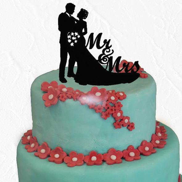 Mr Mrs Wedding Cake Topper Decoration (Romantic /Beautiful /Sweet) - CHARMERRY