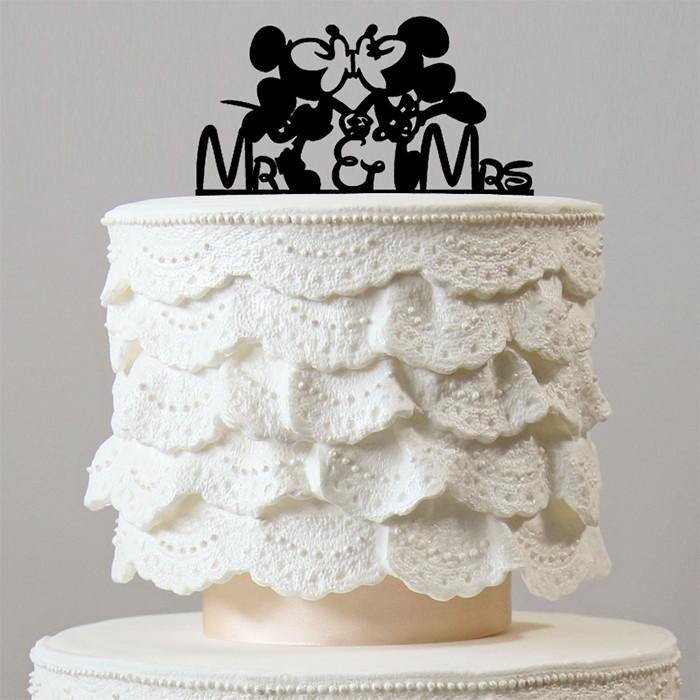 Romantic Cake Topper (Mickey Minnie Mouse Theme Inspired Wedding)