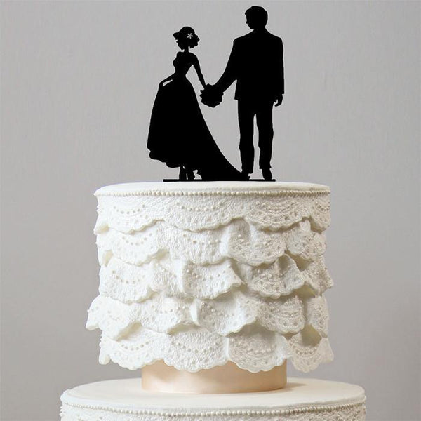 Romantic Engagement /Wedding Cake Topper (Beautiful Bride &Groom)