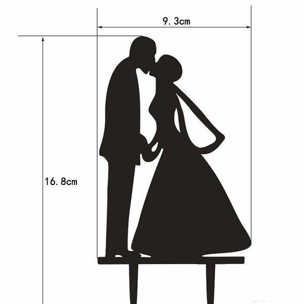 Romantic Kissing Wedding Cake Topper (Bride Kiss Groom /Holding Hands)
