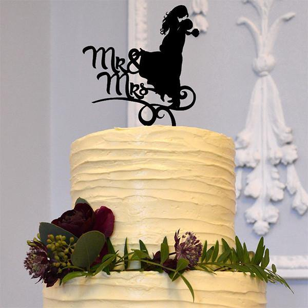 Romantic Mr Mrs Wedding Cake Topper Decoration (Beautiful Bride &Groom)