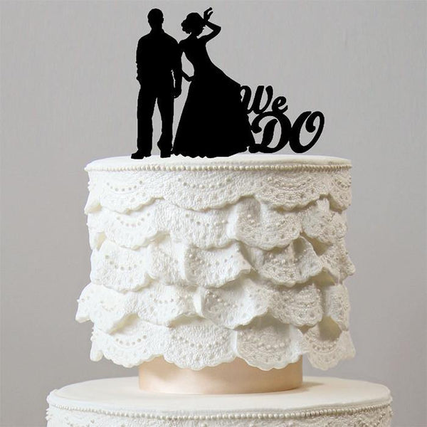 Romantic We Do Cake Topper (Beautiful Bride Groom /Wedding Engagement)