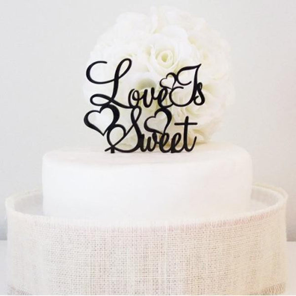 Romantic Wedding Cake Topper /Beautiful Engagement Cake Decoration