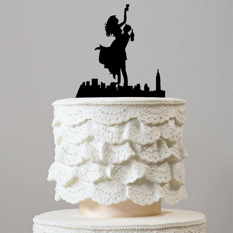 Romantic Wedding Cake Topper (Happiest Bride Groom Dance &Celebrate) - CHARMERRY