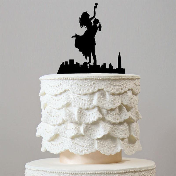 Romantic Wedding Cake Topper (Happiest Bride Groom Dance &Celebrate)