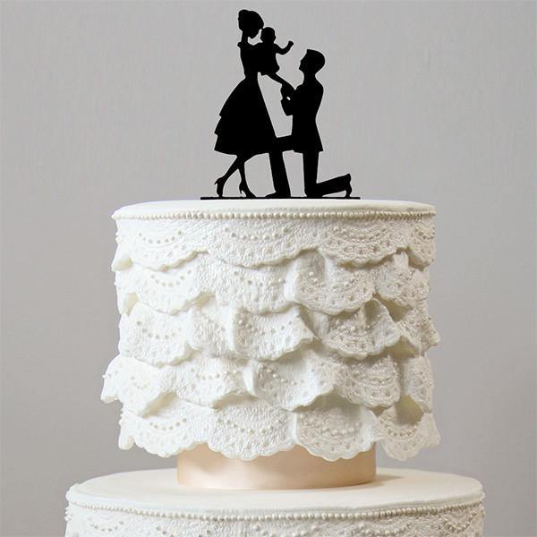 Romantic Wedding Cake Topper (Newborn Baby /Family Love /Proposing)