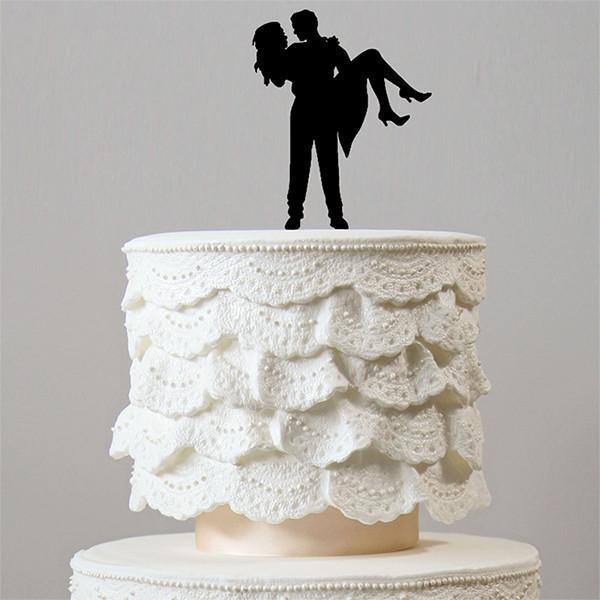 Romantic Wedding Cake Topper (Sweet Bridal Carry /Beautiful Bride Groom)