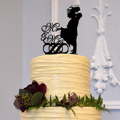 Romantic Wedding Cake Toppers Mr Mrs Groom lifting Beautiful