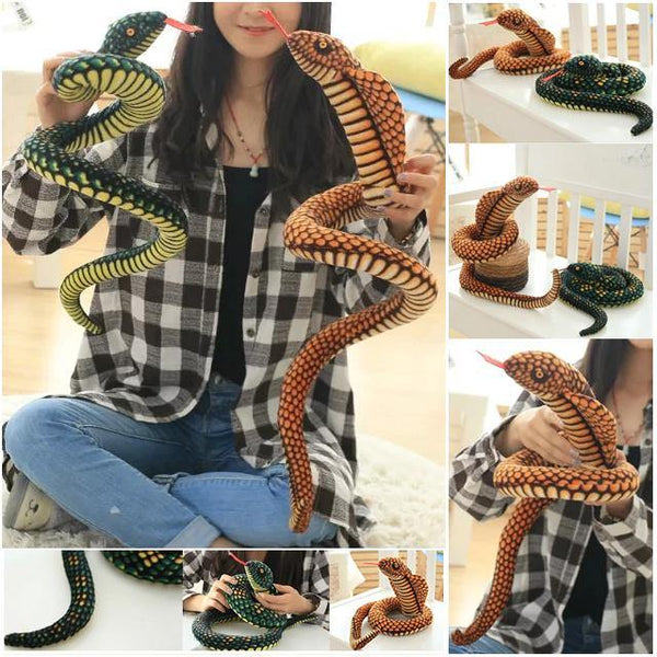 Snake Toy | Novelty Stuffed Animal Gifts, Unique Surprise Plush Cobra & Python Charmerry a0