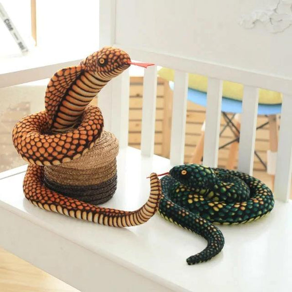 Snake Toy | Novelty Stuffed Animal Gifts, Unique Surprise Plush Cobra & Python Charmerry a04