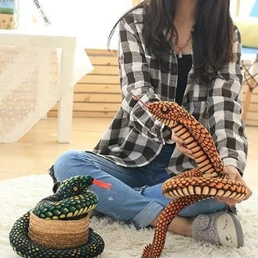 Snake Toy | Novelty Stuffed Animal Gifts, Unique Surprise Plush Cobra & Python Charmerry a03