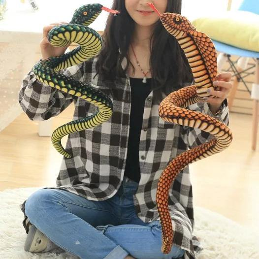 Snake Toy | Novelty Stuffed Animal Gifts, Unique Surprise Plush Cobra & Python Charmerry a02