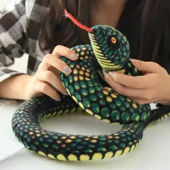 Snake Toy | Novelty Stuffed Animal Gifts, Unique Surprise Plush Cobra & Python Charmerry a07