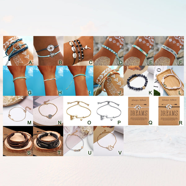 Summer Bracelets - Beach Hawaii Boho Chic Cosy Outfit Additions & Accessories CHARMERRY A02