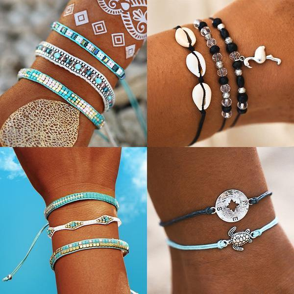 Summer Bracelets - Beach Hawaii Boho Chic Cosy Outfit Additions & Accessories CHARMERRY A01