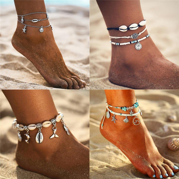 Summer Chic Anklets - Ankle Jewelry, Ankle Bracelets & Foot Chains  Outfit Additions & Accessories Charmerry b05