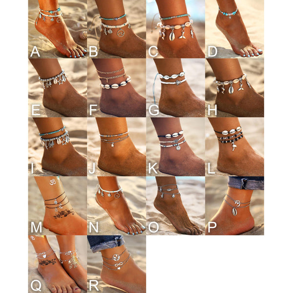 Summer Chic Anklets - Ankle Jewelry, Ankle Bracelets & Foot Chains  Outfit Additions & Accessories CHARMERRY B01