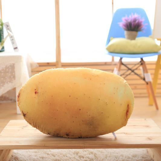 "Creative Stuffed Throw Pillow Gift /Unique Plush Soft Toy (Fun Unusual) [Vegetables /Potato /21.6""]"